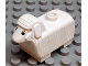 Part No: dupsheeppb02  Name: Duplo Sheep First Version with Flat Ears and Black and White Eyes