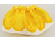 Part No: dupskirt13  Name: Duplo, Figure Wear & Utensil Cloth Skirt Satin with Yellow Layered Top Skirt and Orange Roses Pattern