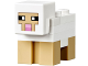 Part No: minesheep01  Name: Minecraft Sheep, White, Plate 2 x 2 on Back - Brick Built