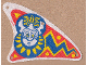 Part No: sailbb10  Name: Cloth Sail Triangular Curved with Islander Pattern