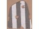 Part No: sailbb13  Name: Cloth Sail 3 with Dark Gray Stripes Pattern, Damage Cutouts