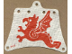 Part No: sailbb19  Name: Cloth Sail 12 x 10 with Red Flying Dragon Pattern