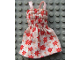 Part No: scl020pb01  Name: Scala, Clothes Female Dress with Skirt with Yellow Dots and Red Flowers Pattern