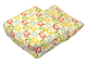 Part No: sleepbag07  Name: Duplo Cloth Sleeping Bag with Blue, Lime, Red and Yellow Bunny Pattern (Wide)