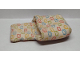 Part No: sleepbag07a  Name: Duplo Cloth Sleeping Bag with Blue, Lime, Red and Yellow Bunny Pattern (Narrow)