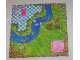 Part No: x1438px1  Name: Belville Cloth Playmat 49cm x 49cm with Stream Pattern (#5834)