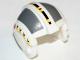 Part No: x164pb01  Name: Minifigure, Headgear Helmet SW Rebel Pilot with Dark Bluish Gray Rectangles Pattern (Wedge, Set 6212)