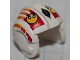 Part No: x164pb06  Name: Minifigure, Headgear Helmet SW Rebel Pilot with Yellow Rebel Logo, Red and Yellow Stripes Pattern