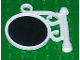 Part No: x222pb07  Name: Fabuland Sign on Pole with Mirror Pattern (Sticker) - Sets 5805 / 5837 / 5862