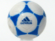 Part No: x45pb01  Name: Ball, Sports Soccer with Adidas Blue Pattern