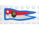Part No: x560px1  Name: Cloth Flag 5 x 2 Banner with Royal Knights Lion Head Pattern