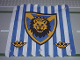 Part No: x58px1  Name: Cloth Hanging 16 x 16 with Blue Stripes and Lion Head Shield Pattern