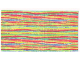 Part No: x883pb01  Name: Scala Cloth Blanket 22 x 12, Multi-Color Stripes Pattern (#3142)
