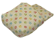 Part No: x980px1  Name: Duplo Cloth Sleeping Bag with Red, Blue, Yellow and Lime Flowers Pattern
