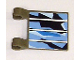 Part No: 2335pb056  Name: Flag 2 x 2 Square with Solar Panel Pattern (Sticker) - Set 7469