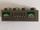 Part No: 3001pb093  Name: Brick 2 x 4 with Graphs and Wires Pattern (Sticker) - Set 4851