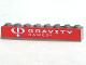 Part No: 3008pb041  Name: Brick 1 x 8 with White Gravity Games Logo on Red Background Pattern (Sticker) - Set 3535