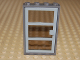 Part No: 30179c01  Name: Door, Frame 1 x 4 x 6 with Four Holes on Top and Bottom with Light Gray Door 1 x 4 x 6 with 3 Panes with Trans-Black Glass (30179 / x39c02)