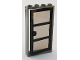 Part No: 30179c05  Name: Door, Frame 1 x 4 x 6 with Four Holes on Top and Bottom with Black Door 1 x 4 x 6 with 3 Panes with Trans-Black Glass (30179 / x39c02)