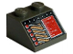 Part No: 3039px10  Name: Slope 45 2 x 2 with Red Rectangle and Copper and White Circuitry Pattern