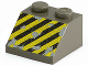 Part No: 3039px16  Name: Slope 45 2 x 2 with Black and Yellow Danger Stripes Pattern