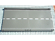 Part No: 30401px1  Name: Baseplate, Road 32 x 16 Ramp, Straight with White Center Stripe Pattern