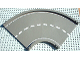 Part No: 30402px1  Name: Baseplate, Road 24 x 24 Ramp, Curved (16w surface) with White Center Stripe Pattern