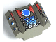 Part No: 30601pb04  Name: Brick, Modified 2 x 2 No Studs, Sloped with Angled Side Block Extensions and Shredd Pattern (Set 4570)