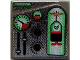 Part No: 3068bpb0039  Name: Tile 2 x 2 with Groove with Green and Red Ogel Orb and Gauges Pattern