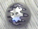 Part No: 32474pb001  Name: Technic, Ball Joint with Black and Silver TT-8L/Y7 Gatekeeper Droid Pattern