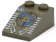 Part No: 3298pb005  Name: Slope 33 3 x 2 with Blue and Copper Insectoid Scope and Silver Circuitry Pattern