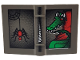Part No: 33009px4  Name: Minifigure, Utensil Book 2 x 3 with Dragon and Spider Pattern