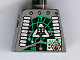 Part No: 973pb0200  Name: Torso Space Insectoids Green Circuitry, Silver Hose on Sides Pattern