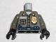 Part No: 973pb0277c01  Name: Torso Security Guard, Gold Badge, Blue Belt w/Radio Pattern / Dark Gray Arms / Black Hands