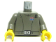 Part No: 973psqc01  Name: Torso SW Imperial Officer 1 (Captain) Pattern / Dark Gray Arms / Yellow Hands