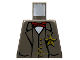 Part No: 973px161  Name: Torso Western Sheriff Star Badge, Vest, Red Bow Tie and Watch Fob Pattern (Sheriff)