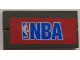 Part No: BA102pb03  Name: Stickered Assembly 2 x 4 with Blue 'NBA' and Logo Pattern (Sticker) - Sets 3432 - 2 Tiles 1 x 4