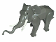 Part No: elephant1c01  Name: Elephant with White Tusks and Back Connector Slopes