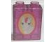 Part No: 4066pb390  Name: Duplo, Brick 1 x 2 x 2 with White Horse and Pink Mane Pattern (Sticker) - Set 4828