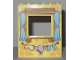Part No: 15627pb013  Name: Panel 1 x 6 x 6 with Window Frame with Curtains and Clothes Line with Laundry Pattern