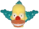 Part No: 15662pb01  Name: Minifigure, Head Modified Simpsons Krusty the Clown