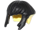 Part No: 17221pb01  Name: Minifigure, Hair Short, Bowl Cut with Black Side Locks and Top Pattern