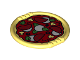 Part No: 27372pb02  Name: Duplo Utensil Disk with Pizza with Tomatoes, Cheese Slices, Basil, Mushrooms and Olives Pattern