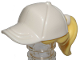 Part No: 35660pb03  Name: Minifigure, Hair Combo, Hair with Hat, Ponytail with White Ball Cap Pattern