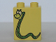 Part No: 4066pb229  Name: Duplo, Brick 1 x 2 x 2 with Spotted Snake Pattern (From Dora The Explorer)