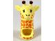 Part No: 45758pb01  Name: Minifigure, Headgear Head Cover, Costume Giraffe Head and Neck with Orange Spots Pattern