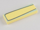 Part No: 63864pb004  Name: Tile 1 x 3 with Silver Outline and Light Aqua Outer Edge Pattern (Flo)