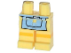 Part No: 970c00pb0269  Name: Hips and Legs with Bright Light Blue Apron and Yellow Stripe Pattern