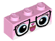 Part No: 3622pb050  Name: Brick 1 x 3 with Cat Face with Glasses Pattern (Biznis Kitty)