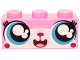Part No: 3622pb058  Name: Brick 1 x 3 with Cat Face Wide Eyes Smiling (Cutesykitty) Pattern